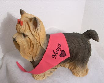 Scarf tie to be personalized for your dog size XS-S-M
