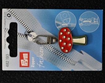 fancy metal red mushroom 482193 prym zipper pull