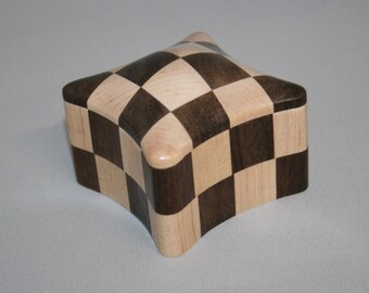 Checkerboard #17 Handcrafted Wooden Box