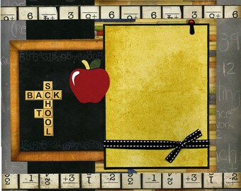 Back To School - 12x12 Premade Scrapbook Page