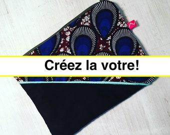Pouch bag case storage wax e - wax-wax / / your choice - customizable / / African ethnic decor gift GRAWOULWAX fabric patterns