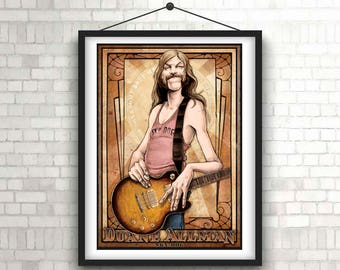 Allman Brothers Illustration/ Rock Music poster