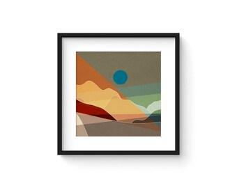 LANDSCAPE & BEYOND no.104 - Abstract Modern Minimalist Landscape Mid Century Style Art Print