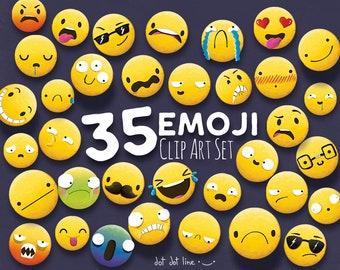 35 Emoji Clipart, Emoji Clip art, Smiley Face Emoji Clipart, feelings clipart, Face Emoticons, clipart, Emoji clip art images,Emoji Face