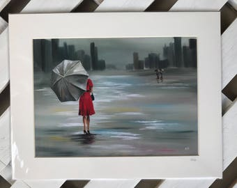 Giclee print, Lady in Red, limited edition, various sizes available