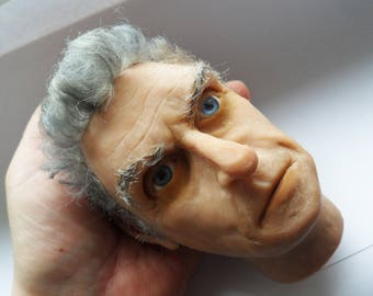 Doctor Who 12 Peter Capaldi head sculpture