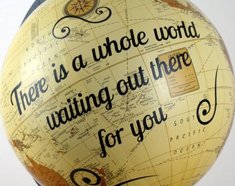 Personalized World Globe, Bespoke Personalized Mothers Day- Retirement Gift Ideas - Personalized New Home Gift, Mothers Day