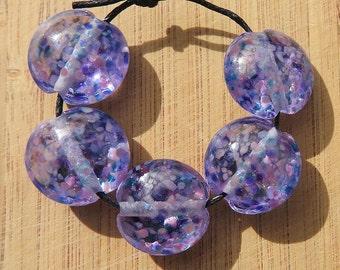 Violet - Lampwork Bead Set