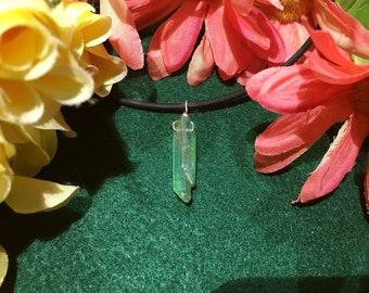 Green Aura Quartz Necklace
