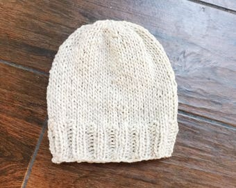 chunky knit slouchy hat basic style | Refuge Hat