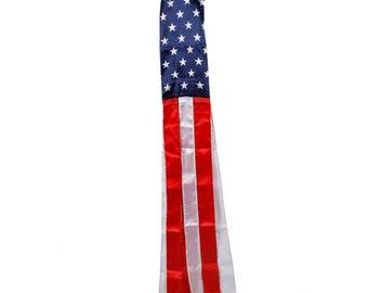 Patriotic Wind Sock: Red/White/Blue - 5.5 x 5.9 inches