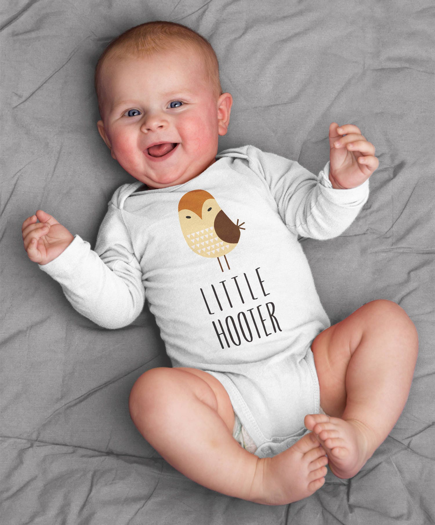 Little Hooter Owl Baby Clothes Bodysuit Romper for Baby Boy