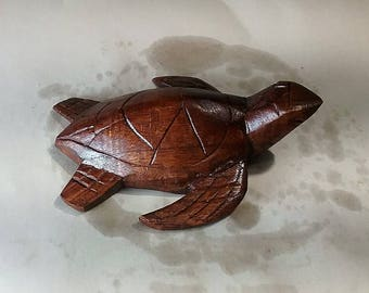 turtle wood carving