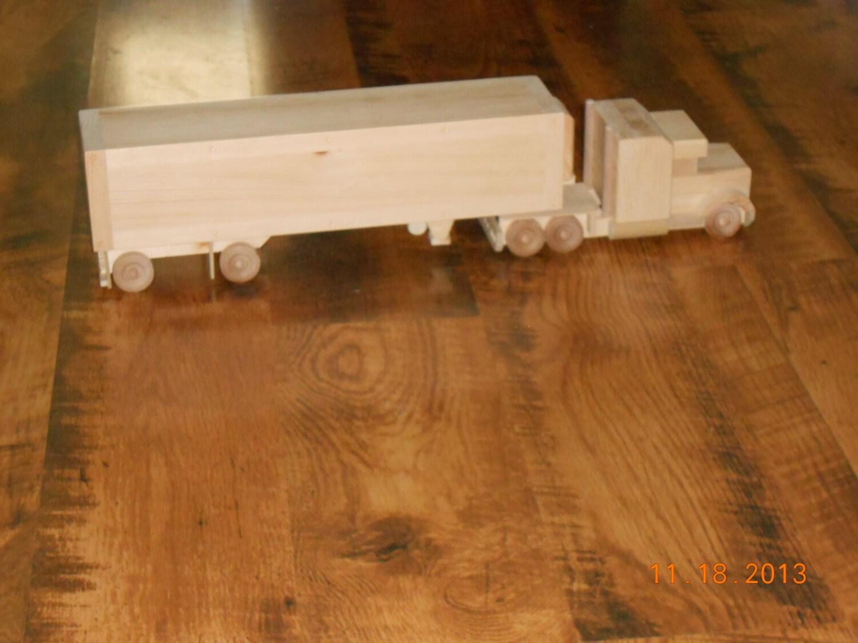 Camión de juguete de madera artesanales
