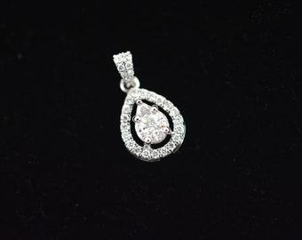 Natural diamond pear shape locket