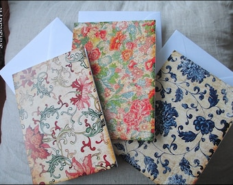 3 folded cards  - incl. envelope