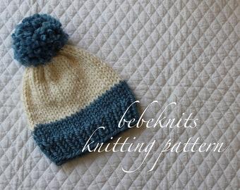 Bebeknits Simply Slouchy Toddler/Child Hat Knitting Pattern