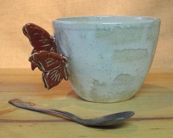 teacup or Mug in stoneware enamelled