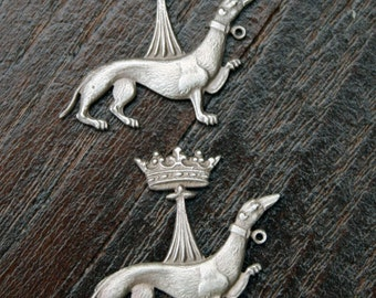 PAIR Small Solid Silver Ermines