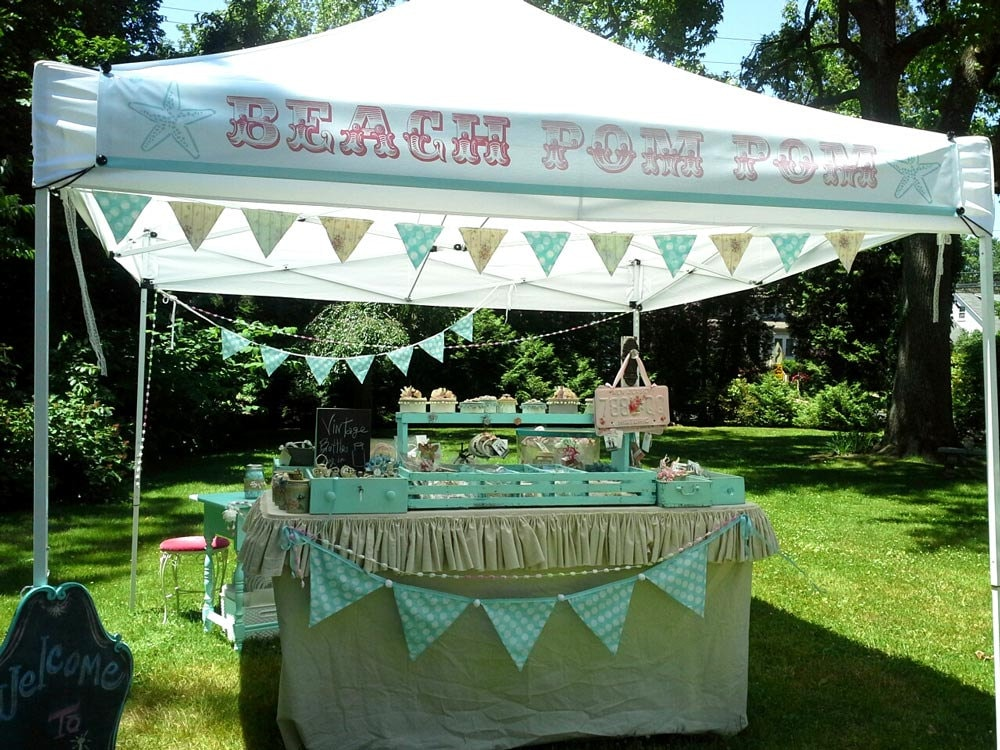One craft show banner 12 inch by 9 foot for a 10x10 canopy for Used craft fair tents