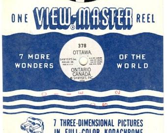 1950's Ottawa Ontario Canada One Reel #378 Sawyer's VIEW-MASTER 3D