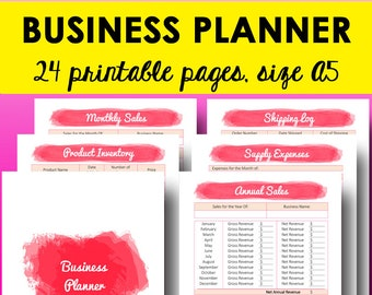 Direct Sales Planner, Small Business Planner Printable, Business Sales Tracker Printables, Expense Tracker Printable, A5, Instant Download