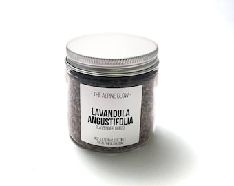 Lavender Flowers - Apothecary Herbs - Dried Lavender Buds - Botanicals - Lavender Water - Bath Tea - Facial Steam - 4 OZ