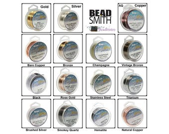 BeadSmith Silver Plated & Tarnish Resistant Copper Craft Wires (Pick Gauges 16, 18, 20, 22, 24, 26, 28) See Description for Spool Lengths