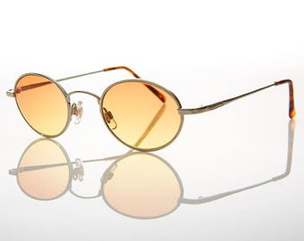 90s Oval Color Tinted Lens Hippie Sunglasses - Tulum