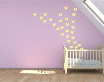 50 Butterfly Wall Decals
