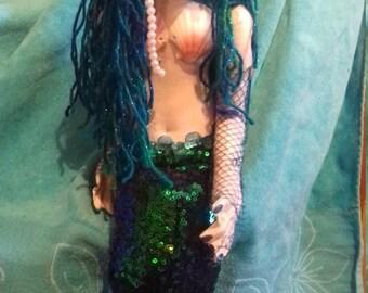 OOAK handmade mermaid cloth doll