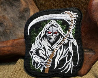 Sale #EarthDay ~  Grim Reaper Skull Patch
