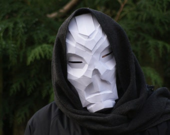 Skyrim Dragon Priest Low Poly Papercraft Mask - Download, Print and Make Your Own