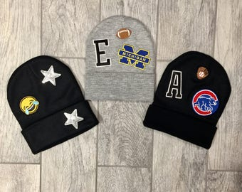 Custom Kids Winter Hat with Patches
