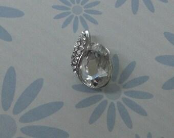 Small clear Rhinestone Charm pendant