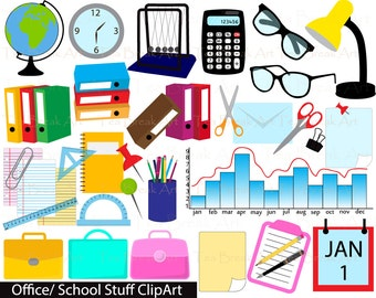 Office/School Stuff Digital Clipart-  Personal & Commercial Use/ instant download(080)