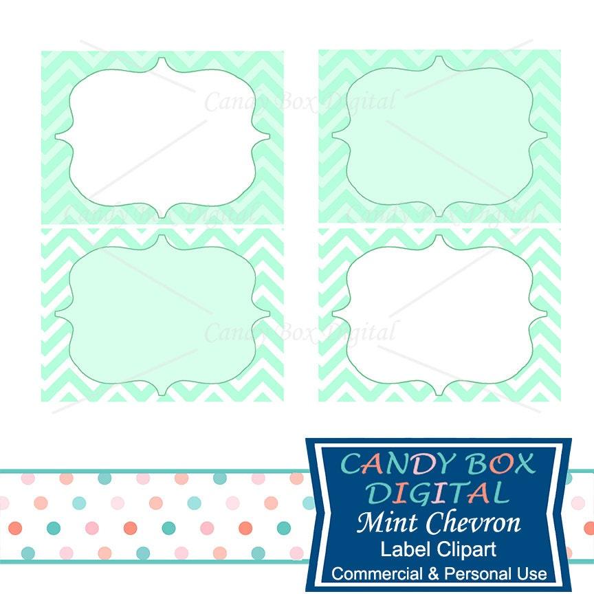 mint label clipart green chevron digital frame clip art rh etsy com clipart label borders clip art labels free
