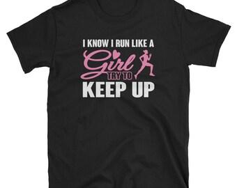 Running Shirt Gift Like a Girl Tee
