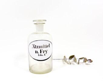Vintage Apothecary Glass
