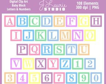 Block letters etsy digital alphabet letters clipart baby block thecheapjerseys Gallery