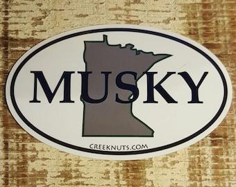 Minnesota Classic Musky Sticker Decal