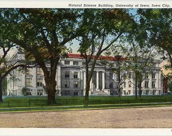 University of Iowa National Science Building Iowa City Vintage Postcard (unused)