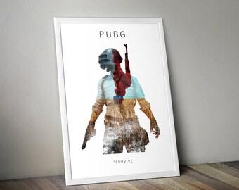 PUBG A3 Game Art Print
