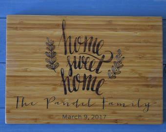 Housewarming Gift, Personalized Cutting Board, Cutting Board, Closing Gift, New Home Gift, Home Sweet Home, House Warming Gift, Personalized