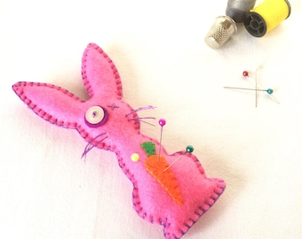 Voodoo Bunny Pin Cushion - Voodoo Doll - Rabbit Pin Cushion - Needle Cushion - Novelty Pin Cushion - Juju Doll - Sewing Gift - Easter Gift