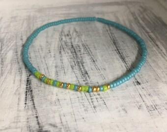 Grandma - Morse Code Stretchy Bead Bracelet, Pick your colors- Mothers Day Gift
