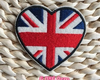 UK Flag Embroidered Iron On Patch, sewing patch, UK flag patch