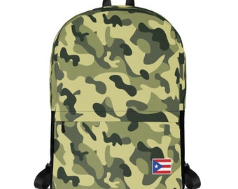 Puerto Rico Backpack Camouflage Puerto Rican Flag