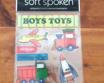 Me & My Big Ideas-Soft Spoken-Boys Toys-8 Dimensional Stickers- Brand New