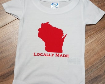 Wisconsin Locally Made Baby One Piece